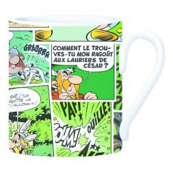 Mug Astérix en céramique - 8,5 x 10 x 12 cm - Vert