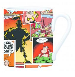 Mug Astérix en céramique - 8,5 x 10 x 12 cm - Rouge