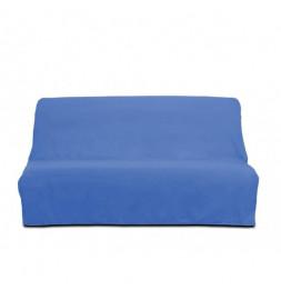 Housse de clic-clac Panama en coton - 185-200 x 120-140 cm - Bleu