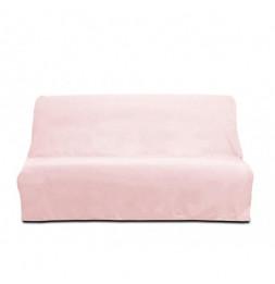 Housse de clic-clac Panama en coton - 185-200 x 120-140 cm - Rose