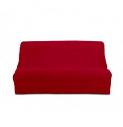Housse de clic-clac Panama en coton - 185-200 x 120-140 cm - Rouge