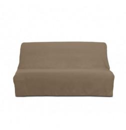 Housse de clic-clac Panama en coton - 185-200 x 120-140 cm - Taupe