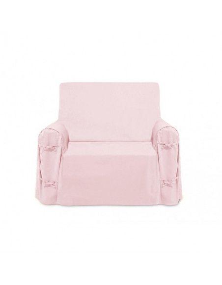 Housse de fauteuil Panama en coton - 90 x 90 x 60 cm - Rose
