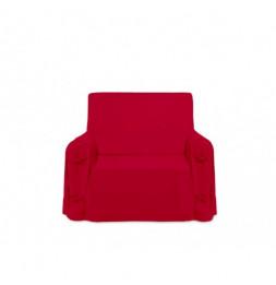 Housse de fauteuil Panama en coton - 90 x 90 x 60 cm - Rouge