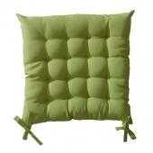 Galette de chaise matelassée 40 x 40 cm - Vert