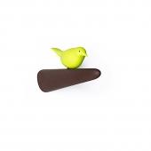 Patère picky bird - Marron et vert