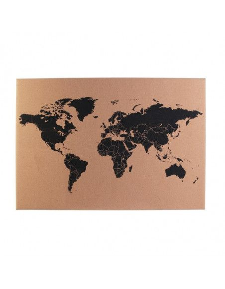 Carte du monde en liège - 60 x 40 cm