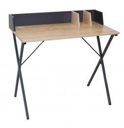 Bureau gris - Brice - 90 x 50 x 84 cm