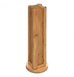 Porte capsule rotatif - D 10,2 x H 29,2 cm - Bambou