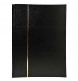 Album de timbres en simili-cuir 64 pages - 22,5 x 30,5 cm - Noir