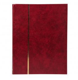 Album de timbres en simili-cuir 64 pages - 22,5 x 30,5 cm - Rouge