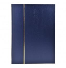 Album de timbres en simili-cuir 48 pages - 22,5 x 30,5 cm - Bleu