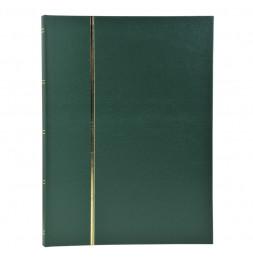Album de timbres en simili-cuir 48 pages - 22,5 x 30,5 cm - Vert