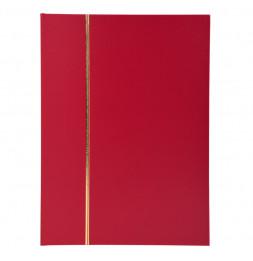 Album de timbres en simili-cuir 32 pages - 16,5 x 22,5 cm - Rouge