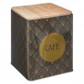 Boîte à café en métal - 10,5 x 17 cm - Noir