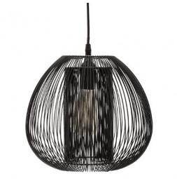 Suspension filaire - D 27.5 x H 25 cm - Noir