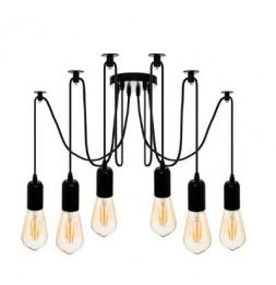 Suspension filaire - 6 ampoules - Métal