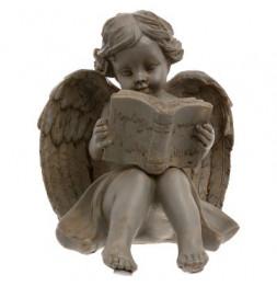 Ange qui lit - Gris