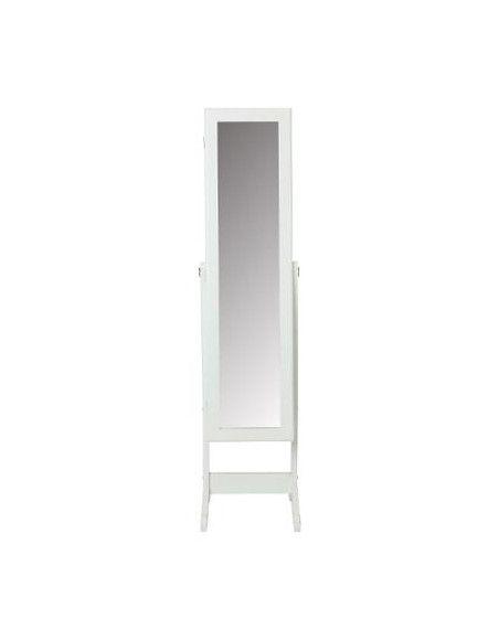Miroir armoire à bijoux - 36.5 x 34.5 x H 145 cm - Blanc