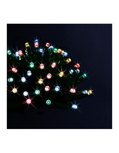 Guirlande lumineuse solaire - 10 M de lumière multicolore
