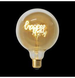 Ampoule décorative HAPPY - Blanc chaud - LED E27 4W equivalent 18W