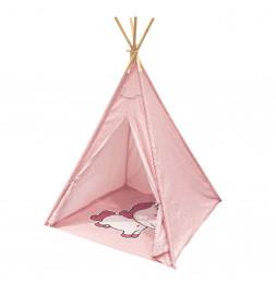 Tipi indien motif Licorne - Rose - Décoration chambre d'enfant