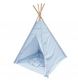 Tipi indien motif Cachalot - Bleu - Décoration chambre d'enfant
