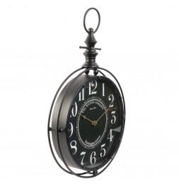 Horloge gousset noire - 35 x H 53 cm - The british company - Vintage