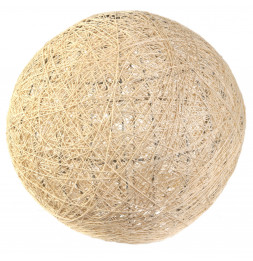 Lampe boule tréssée à suspendre ou poser D 30 cm - Beige