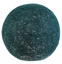 Lampe boule tréssée à suspendre ou poser D 30 cm - Bleu pétrole