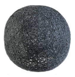 Lampe boule tréssée à suspendre ou poser D 30 cm - Gris