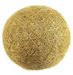 Lampe boule tréssée à suspendre ou poser D 30 cm - Jaune moutarde