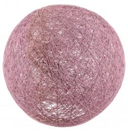 Lampe boule tréssée à suspendre ou poser D 30 cm - Rose poudré