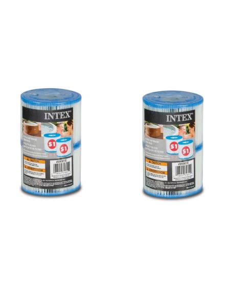 2 Lots de 2 cartouches de filtration  soit 4 cartouches - Cartouches pour SPA - Intex