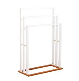 Porte serviettes en bambou - 3 barres - Rangement salle de bain