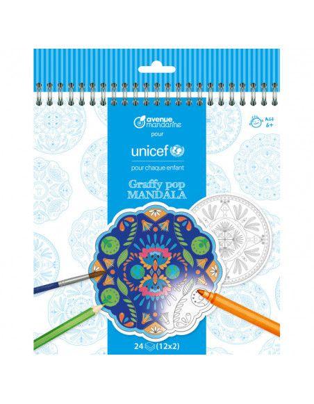 Album de coloriage Mandala Unicef - 6 ans et +