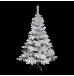 Sapin artificiel blanc reflets brillants - 210 cm - Blooming