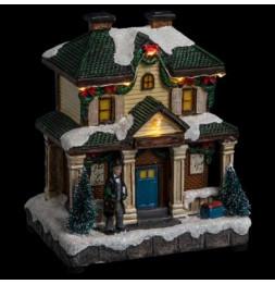Maison traditionnelle Noël éclairage LED - Décoration village de Noël