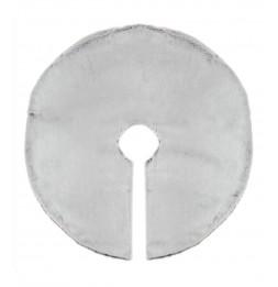 Tapis de sapin fausse fourrure - D 90 cm - Gris