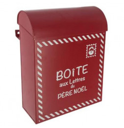 Boîte aux lettres du père Noël - Métal - Rouge