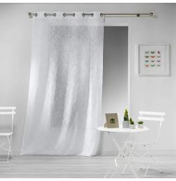 Panneau à oeillets - 140 x 240 cm - Effet lin Tisse haltona - Blanc