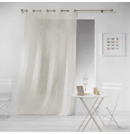 Panneau à oeillets - 140 x 240 cm - Effet lin Tisse haltona - Naturel