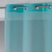 Panneau à oeillets - 140 x 240 cm - Etamine crash telma- Bleu clair