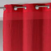 Panneau à oeillets - 140 x 240 cm - Etamine crash telma - Rouge