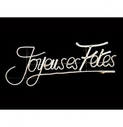 """Néon blanc """"Joyeuses fêtes"""" - Décoration d'extérieur"""