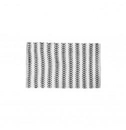 Tapis beige - Motifs bleus - 50 x 80 cm