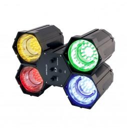 Jeu de lumière 4 spots - 84 LEDs - Multicolore