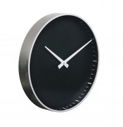Horloge murale - D 30,5 cm - Noir