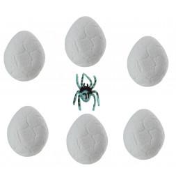 Oeuf magique - Araignée - Contenu surprise - Lot de 6