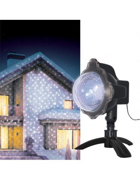 Projecteur extérieur LED - Effet neige - Blanc